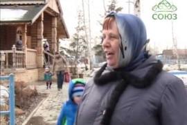 Паломническая группа Омской епархии посетила храм Святых Царственных Страстотерпцев в п. Новоомском