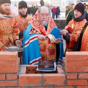 20171110 218 Закладка камня церкви в честь Бориса и Глеба Омск митр. Владимир (Иким) IMG_8515