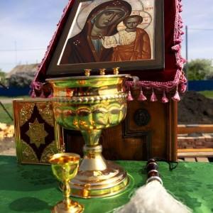 2020.05.12 Освящение закладного камня в основание храма в честь Казанской иконы Пресвятой Богородицы в деревне Пахомовка (10)