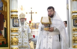 В праздник Вознесения Господня митрополит Владимир совершил Литургию в Успенском кафедральном соборе