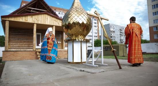 Освящение креста и купола храма святых Бориса и Глеба в военной части 48-й отдельной железнодорожной бригады(11)
