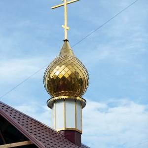 Освящение креста и купола храма святых Бориса и Глеба в военной части 48-й отдельной железнодорожной бригады(34)
