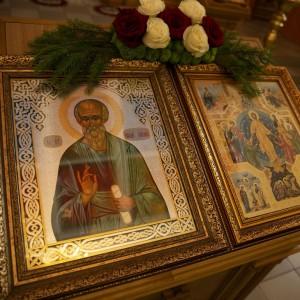 итургия в храме святого Апостола и Евангелиста Иоанна Богослова в храме Омской духовной семинарии(1)