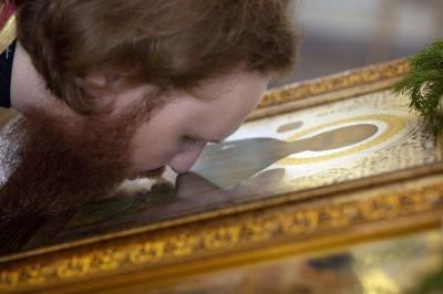 итургия в храме святого Апостола и Евангелиста Иоанна Богослова в храме Омской духовной семинарии(21)