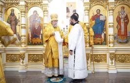 В день памяти пророка Божия Илии митрополит Владимир совершил Литургию в Успенском кафедральном соборе