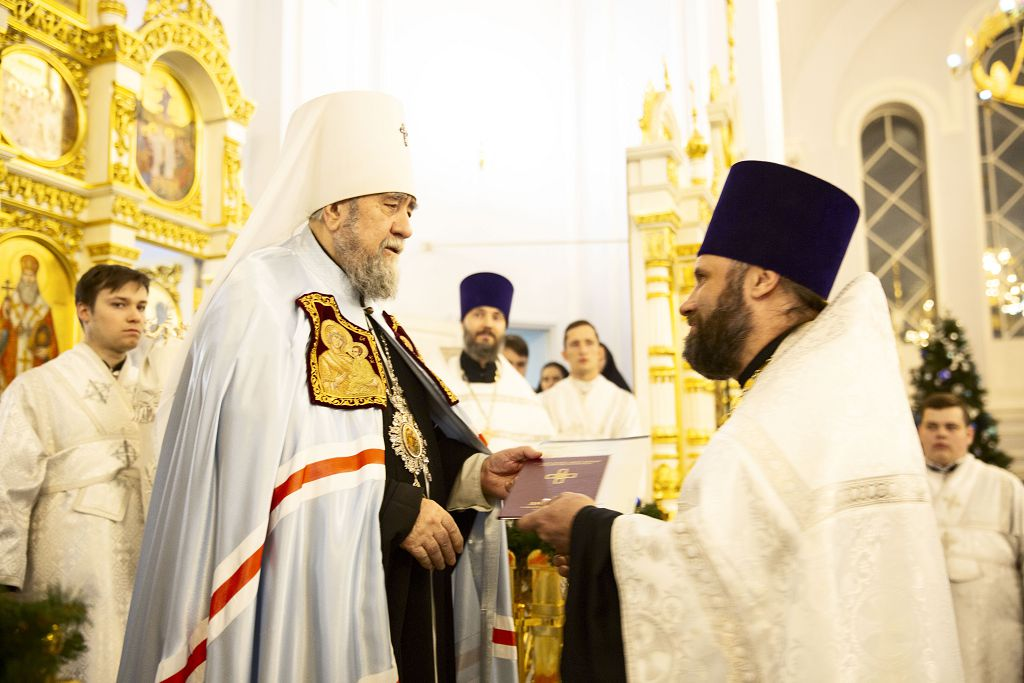 2021.01.08 Успенский собор. Поздравление духовенства(54)