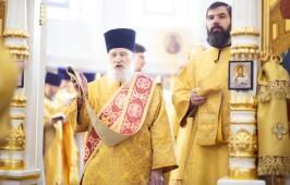 В двенадцатую годовщину интронизации Святейшего Патриарха Кирилла митрополит Владимир совершил Литургию в Успенском кафедральном соборе