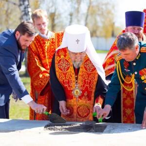2021.05.06 Закладка камня колокольни храма св. Дмитрия Донского при танковом институте(43)