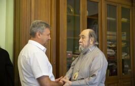 Митрополит Владимир встретился с представителями Благотворительного фонда имени равноапостольного князя Владимира