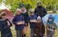 В День пожилого человека воспитанники воскресной школы храма святой вмц. Параскевы Пятницы города Омска поздравили прихожан