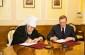 Александр Бурков и Митрополит Владимир согласовали направления совместной работы в сфере духовно-нравственного воспитания