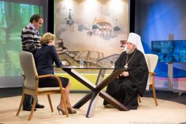 7 апреля в 19:15 на 12 канале митрополит Владимир выступит в прямом эфире
