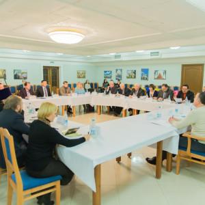 20160115 023  заседание оргкомитета по строительству Серафимо-Вырицкой обители Омск митр. Владимир (Иким) IMG_0988