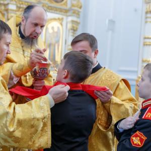 20161120 045 Крещение Кадетов Собор Успения Омск IMG_0820