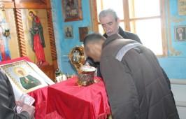 В православный храм ЛИУ-2 привезены мощи святых Космы и Дамиана