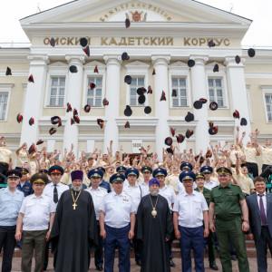 20170624 065 Выпускной Омский кадетский военный корпус Омск митр. Владимир (Иким) IMG_3592