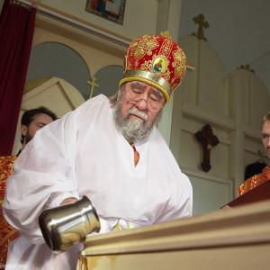 Освящение храма в Орловке митрополитом Омским и Таврическим Владимиром (11 из 55)