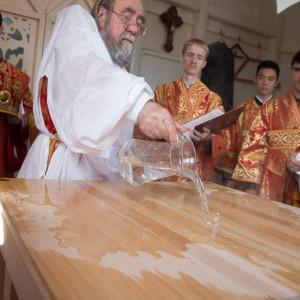 Освящение храма в Орловке митрополитом Омским и Таврическим Владимиром (14 из 55)
