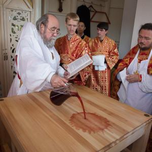 Освящение храма в Орловке митрополитом Омским и Таврическим Владимиром (15 из 55)