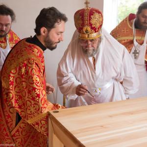Освящение храма в Орловке митрополитом Омским и Таврическим Владимиром (19 из 55)