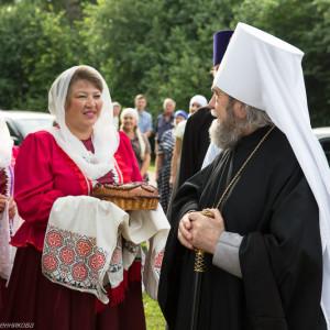 Освящение храма в Орловке митрополитом Омским и Таврическим Владимиром (2 из 55)