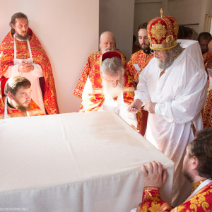 Освящение храма в Орловке митрополитом Омским и Таврическим Владимиром (21 из 55)