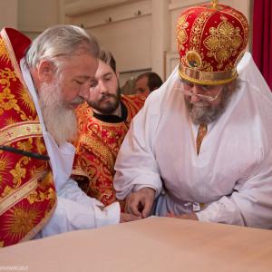 Освящение храма в Орловке митрополитом Омским и Таврическим Владимиром (23 из 55)