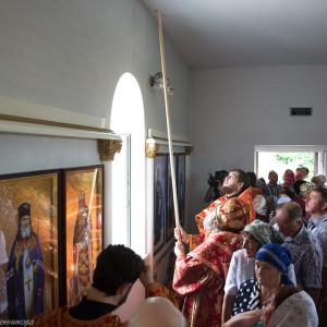 Освящение храма в Орловке митрополитом Омским и Таврическим Владимиром (25 из 55)