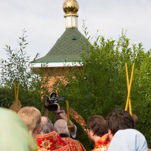 Освящение храма в Орловке митрополитом Омским и Таврическим Владимиром (29 из 55)