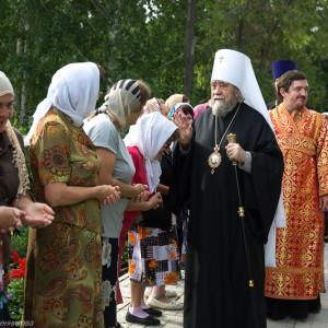 Освящение храма в Орловке митрополитом Омским и Таврическим Владимиром (3 из 55)