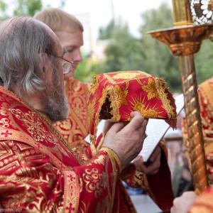 Освящение храма в Орловке митрополитом Омским и Таврическим Владимиром (32 из 55)