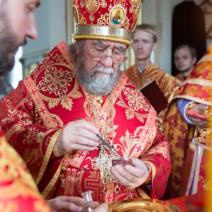 Освящение храма в Орловке митрополитом Омским и Таврическим Владимиром (33 из 55)