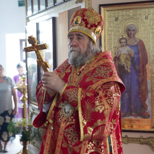Освящение храма в Орловке митрополитом Омским и Таврическим Владимиром (35 из 55)