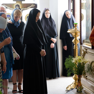 Освящение храма в Орловке митрополитом Омским и Таврическим Владимиром (38 из 55)
