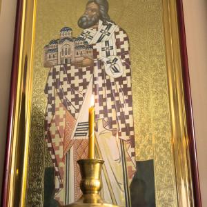 Освящение храма в Орловке митрополитом Омским и Таврическим Владимиром (40 из 55)