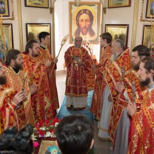 Освящение храма в Орловке митрополитом Омским и Таврическим Владимиром (42 из 55)