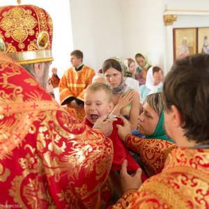 Освящение храма в Орловке митрополитом Омским и Таврическим Владимиром (43 из 55)