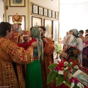 Освящение храма в Орловке митрополитом Омским и Таврическим Владимиром (44 из 55)