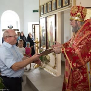 Освящение храма в Орловке митрополитом Омским и Таврическим Владимиром (45 из 55)