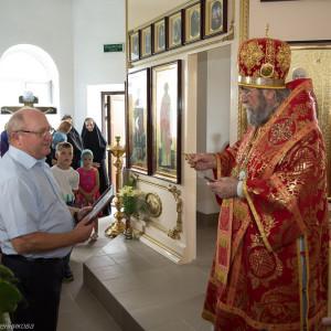 Освящение храма в Орловке митрополитом Омским и Таврическим Владимиром (46 из 55)