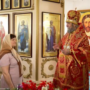Освящение храма в Орловке митрополитом Омским и Таврическим Владимиром (48 из 55)