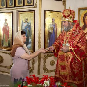 Освящение храма в Орловке митрополитом Омским и Таврическим Владимиром (49 из 55)