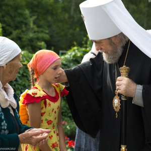 Освящение храма в Орловке митрополитом Омским и Таврическим Владимиром (5 из 55)