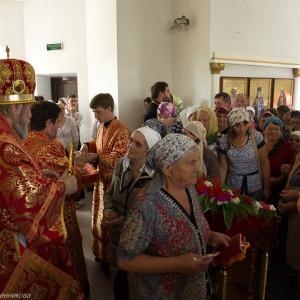 Освящение храма в Орловке митрополитом Омским и Таврическим Владимиром (51 из 55)