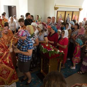 Освящение храма в Орловке митрополитом Омским и Таврическим Владимиром (52 из 55)