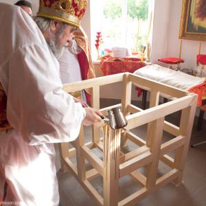 Освящение храма в Орловке митрополитом Омским и Таврическим Владимиром (6 из 55)