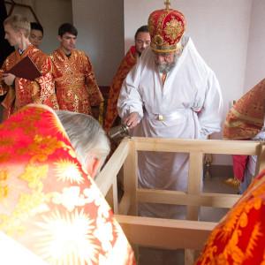 Освящение храма в Орловке митрополитом Омским и Таврическим Владимиром (7 из 55)