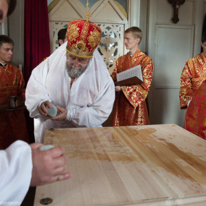 Освящение храма в Орловке митрополитом Омским и Таврическим Владимиром (9 из 55)