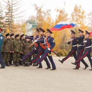 20171018 002 Торжественное Обещание Кадета Казачьего Войска Собор Успения Омск IMG_4733