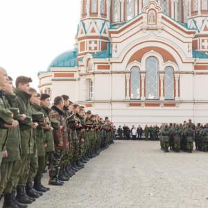 20171018 012 Торжественное Обещание Кадета Казачьего Войска Собор Успения Омск IMG_4762